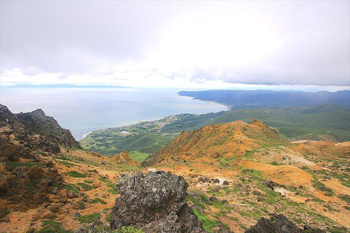 恵山 登山 頂上 眺望 津軽海峡