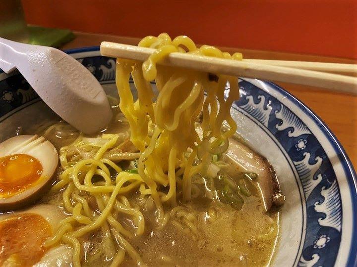 札幌ラーメン 千寿 味そラーメン 味噌 麺リフト