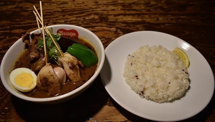 すあげプラス 札幌 スープカレー パリパリ知床鶏と野菜カレー